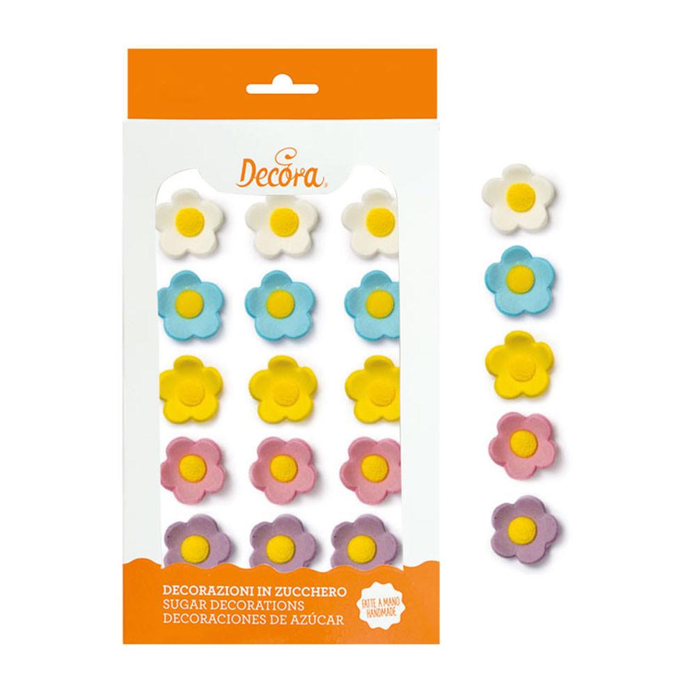 Decoratiuni zahar Floricele colormix 2 mm , 15 buc 0500518 DER
