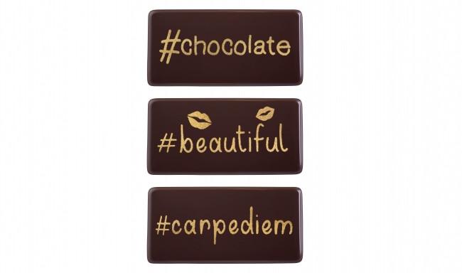 Decoratiuni din ciocolata Hashtag set dark 339861 0.115kg BARB