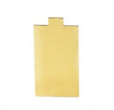 Platou auriu/negru dreptunghiular din carton 5,5x12 cm 3CA2355121N_BND