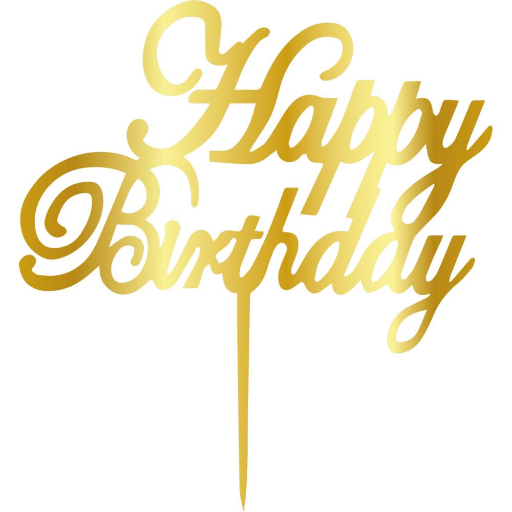Topper  - Happy Birthday/Golden 14622 CSL