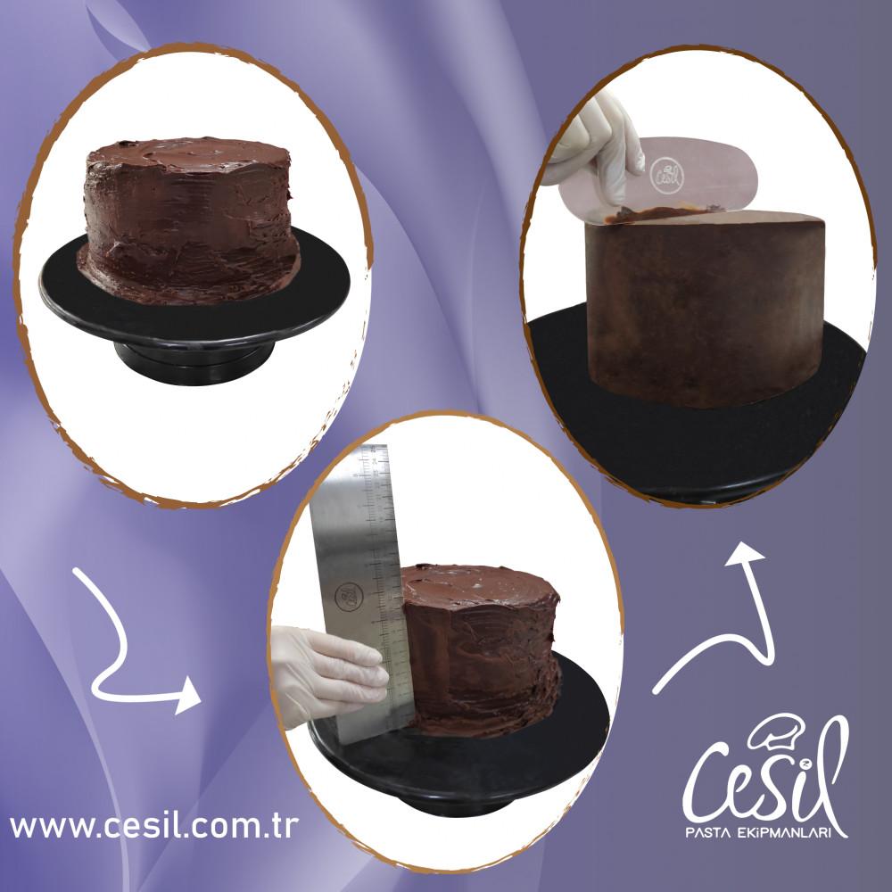 Forma de inox  - Scraper and cake straighter 51355 CSL