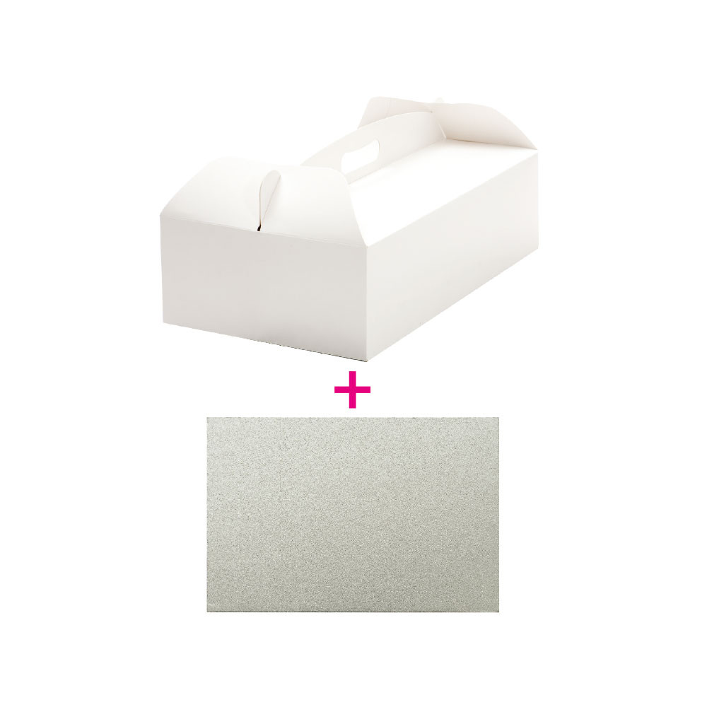 Set cutie tort 46x36x12h cm/suport tort 46x36xH3 cm 340113 DER