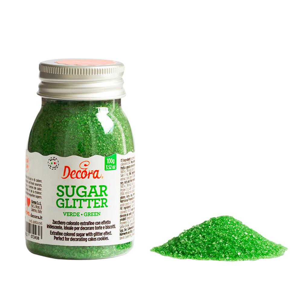 Zahar glitter verde 100 g 9262106 DER