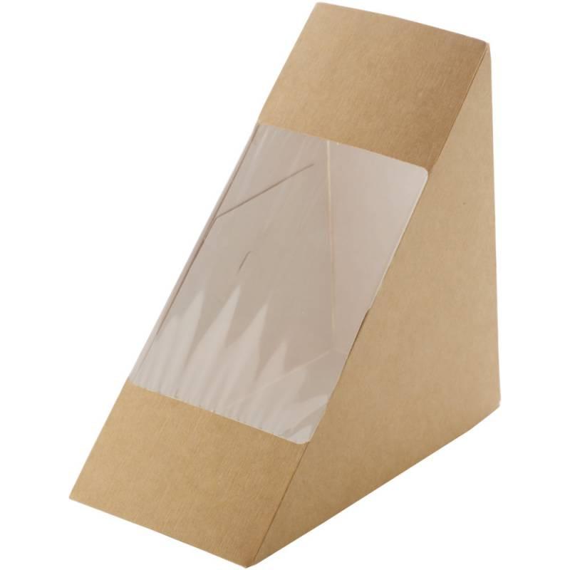 Cutie sandwich 13x13x7cm carton maro 50 buc