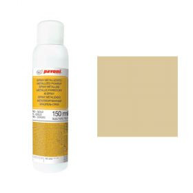 Spray alimentar auriu deschis metalizat 150 ml Pavoni