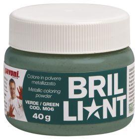 Colorant alimentar pudra verde metalizat 40 g Pavoni