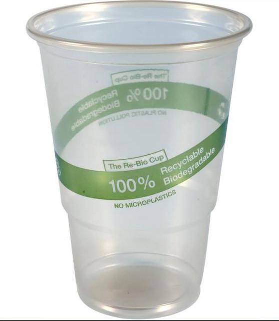 Pahar, Abena Gastro, Re-Bio, 14cm, Ø9,5cm, 50 cl, 61,5 cl, transparent, PP, biodegradabil 50 buc