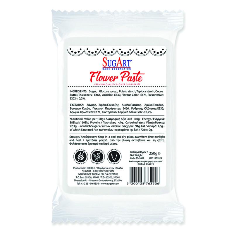Pasta de zahar alba pentru flori Sugart 250 g