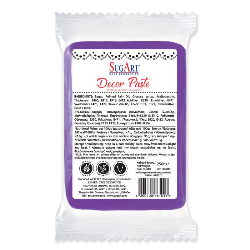 Pasta de zahar violeta pentru acoperit Sugart 1 kg