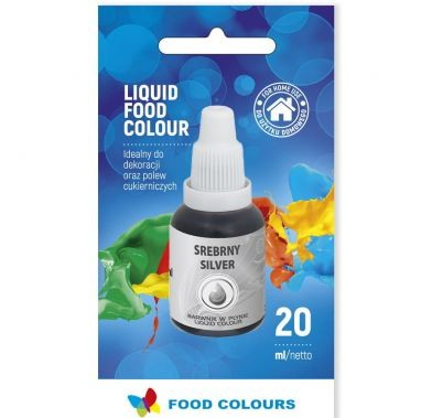 Colorant lichid alimentar 20g argintiu WS-La34  FC