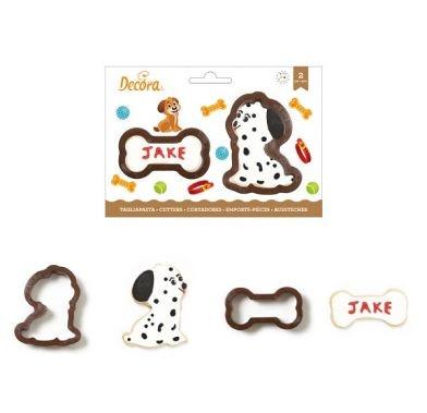 Decupatoare din plastic DOG AND BONE 2buc/set 0255200 DER