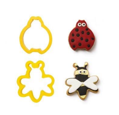 Decupatoare din plastic Ladybug and Bee 2buc/set 0255193 DER