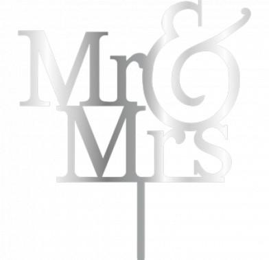 Topper - MR&MRS/Silver 155x180 mm 14050 CSL