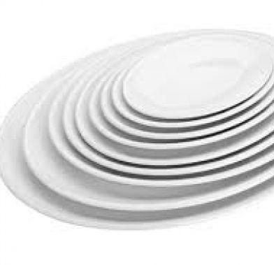 Platou oval alb 31.4x23.4x2.5 cm   62755_LAC