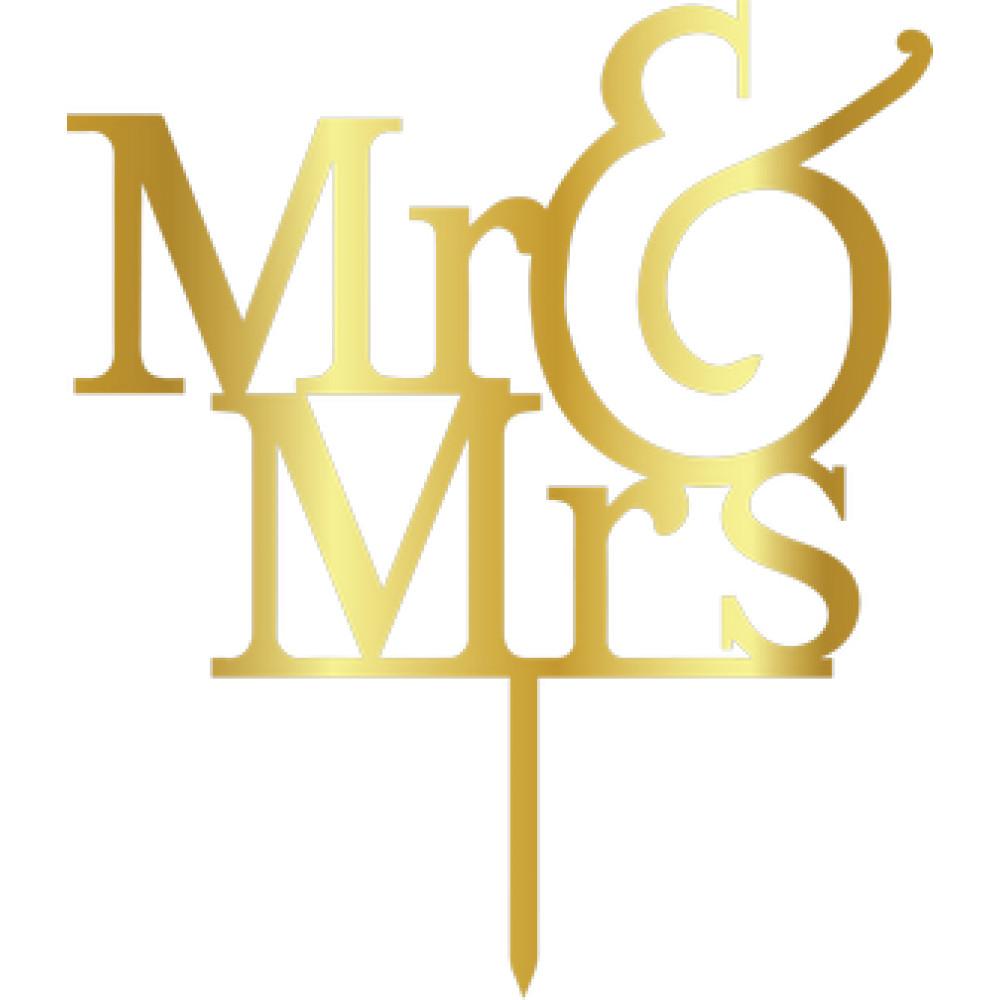 Topper - MR&MRS/Golden 155x180 mm 14014 CSL