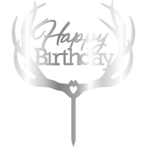 Topper - Happy Birthday 175x150 mm 14061 CSL