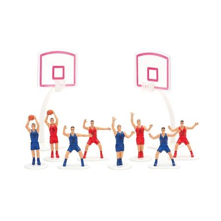 Decoratiuni Basketball pentru Tort Set 8  jucatori + 2 mingi 0816015 DER