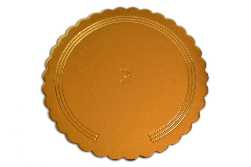 Platou auriu/negru rotund din carton D 8 cm 200 buc  3CA2300081N_BND