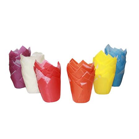 Forma din hartie lalea mini 6 culori d 35 mm h50 mm 300 buc (6x50) 1TC219997MC_BND
