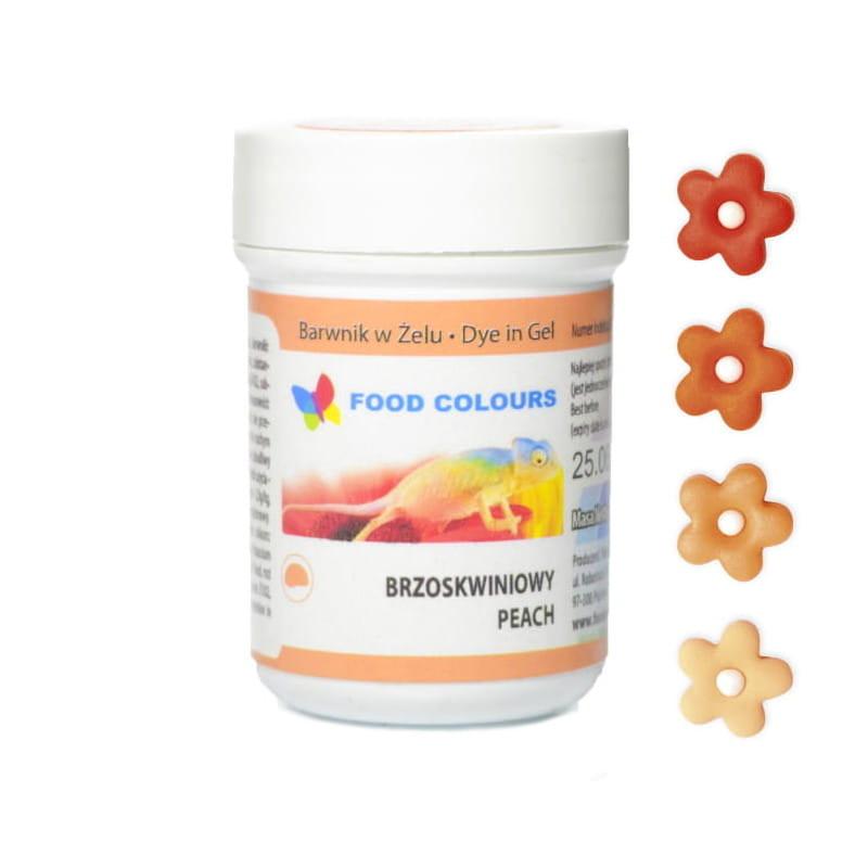 Colorant alimentar in gel piersici 35g WSG-016 FC