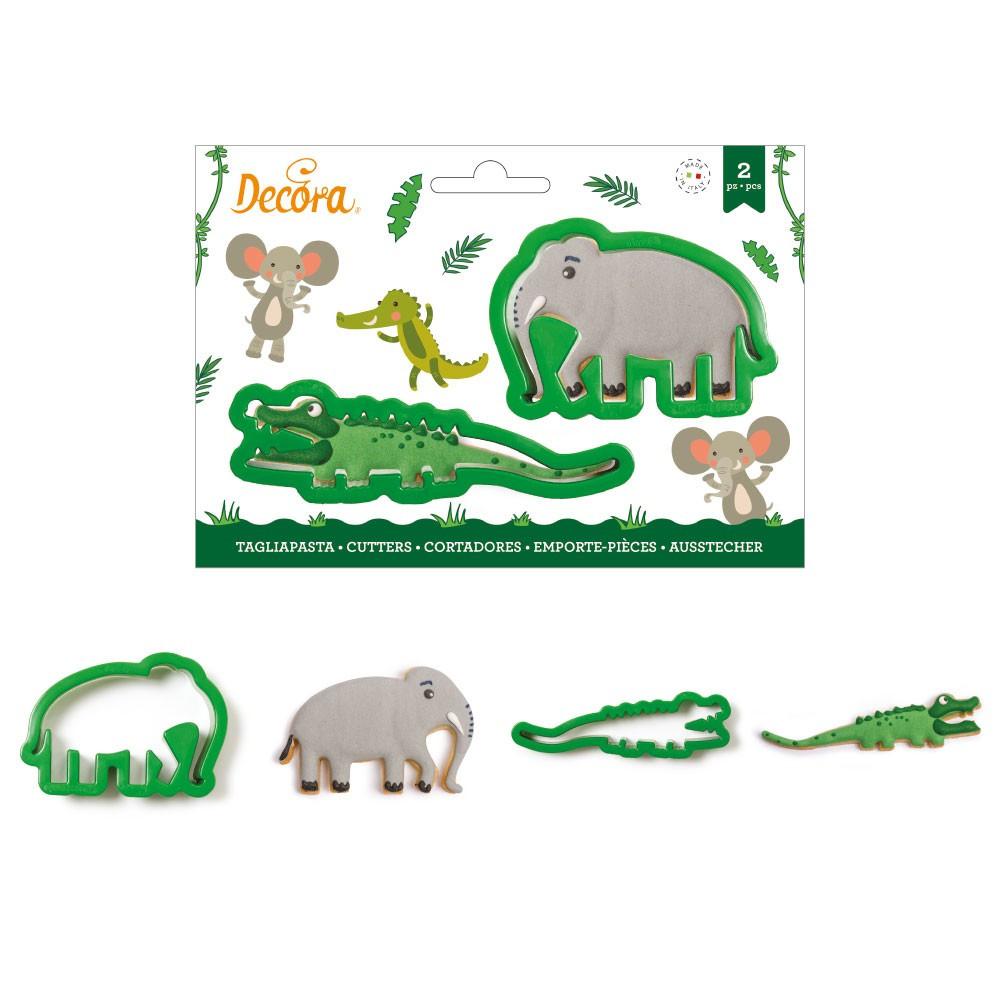 Decupatoare din plastic CROCODILE AND ELEPHANT 0255191 DER