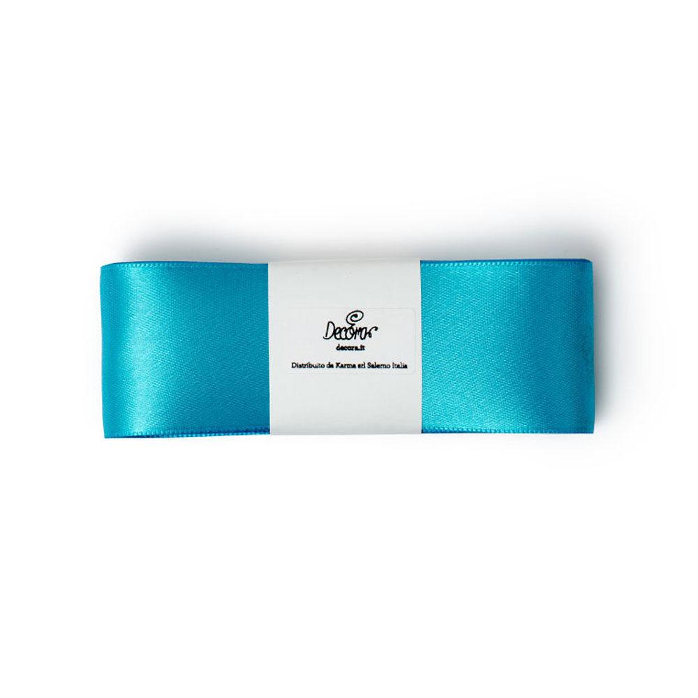 Set panglici satin 15mmx5mt teal blue 0314914 DER