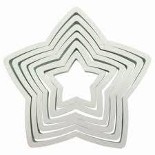 Forma din plastic pentru icing PNS6-stea set 6 buc