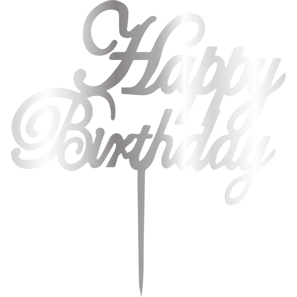 Topper - Happy Birthday 165x165 mm 14623 CSL