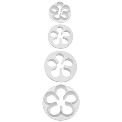 Forma din plastic pentru icing FP510-florii set 4 buc