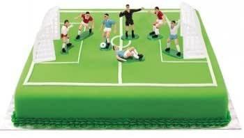Decoratiuni Fotbal pentru Tort Set 5 jucatori + 2 portari 0816010 DER