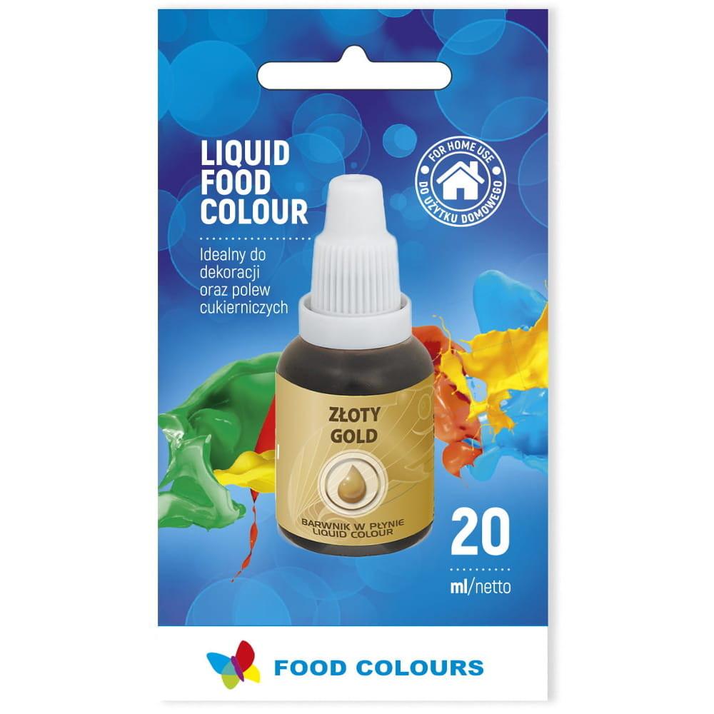 Colorant lichid alimentar 20g auriu WS-La31  FC