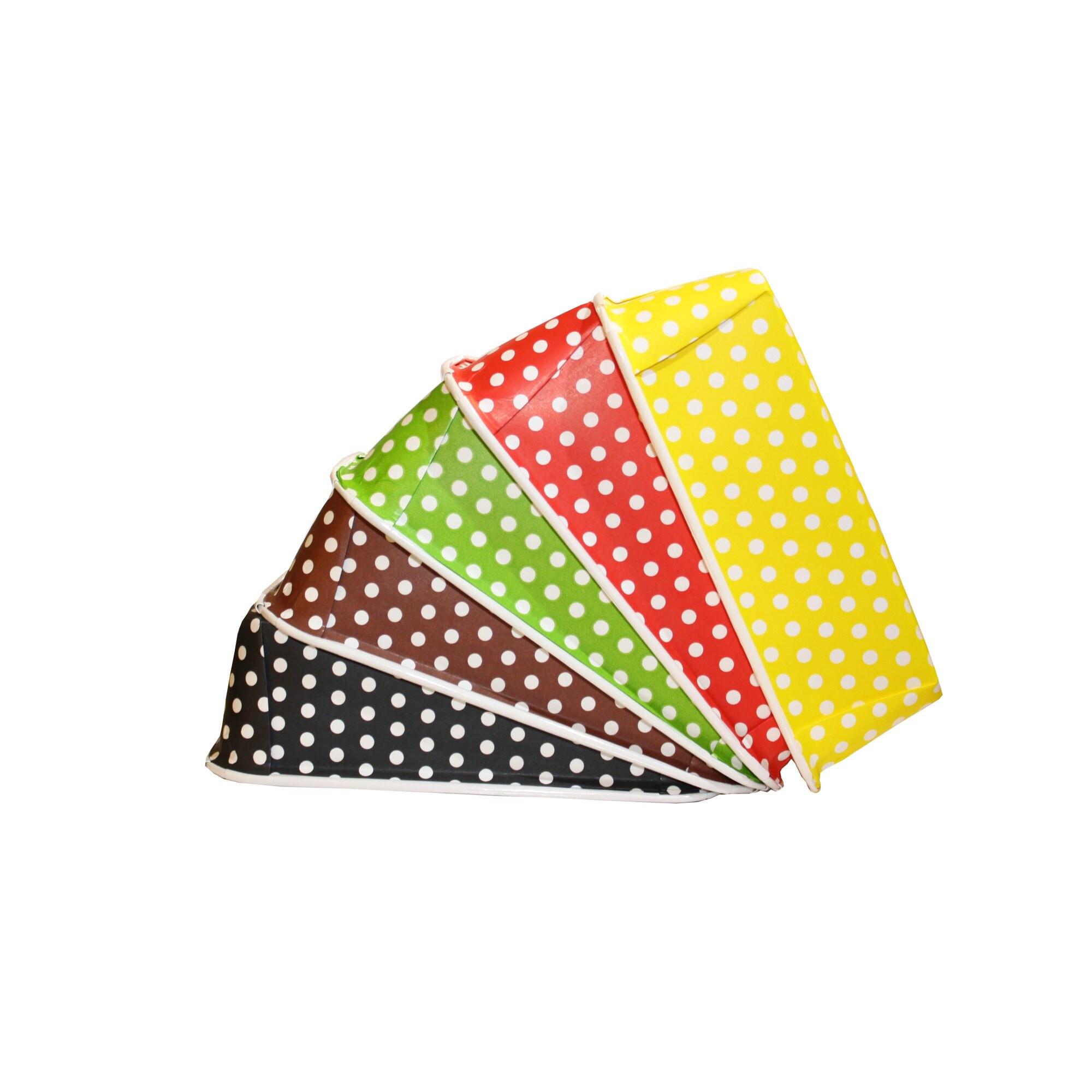 Forma din hartie BI-PLUM 300 5 culori Polka160x54  h 50 mm 50 buc 1FC01PL05SET_BND