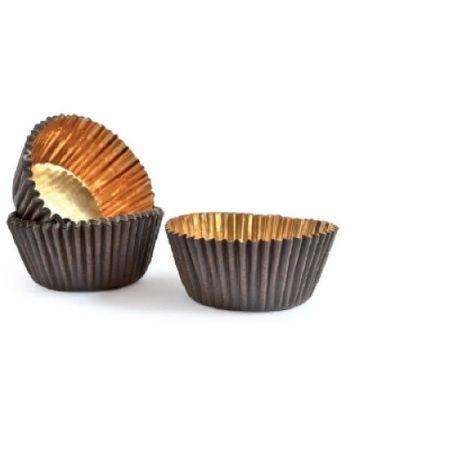 Forma din hartie muffin ROYAL CAFENIU/AURIU 25x62 mm h 18,5mm  600 buc 1BC2001RC02_BND