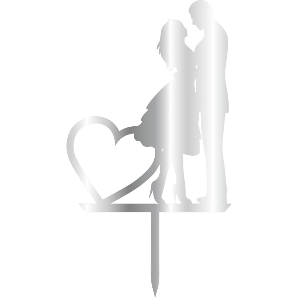Topper - Woman&Man Heart 110x200 mm 14433 CSL