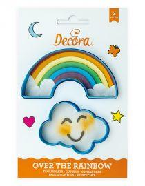 Decupatoare pentru biscuiti Curcubeu si nori 2 in set 0255077 DER