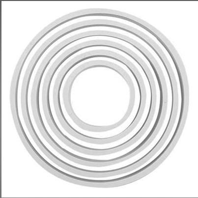 Forma din plastic pentru icing PNR5-cerc set 6 buc