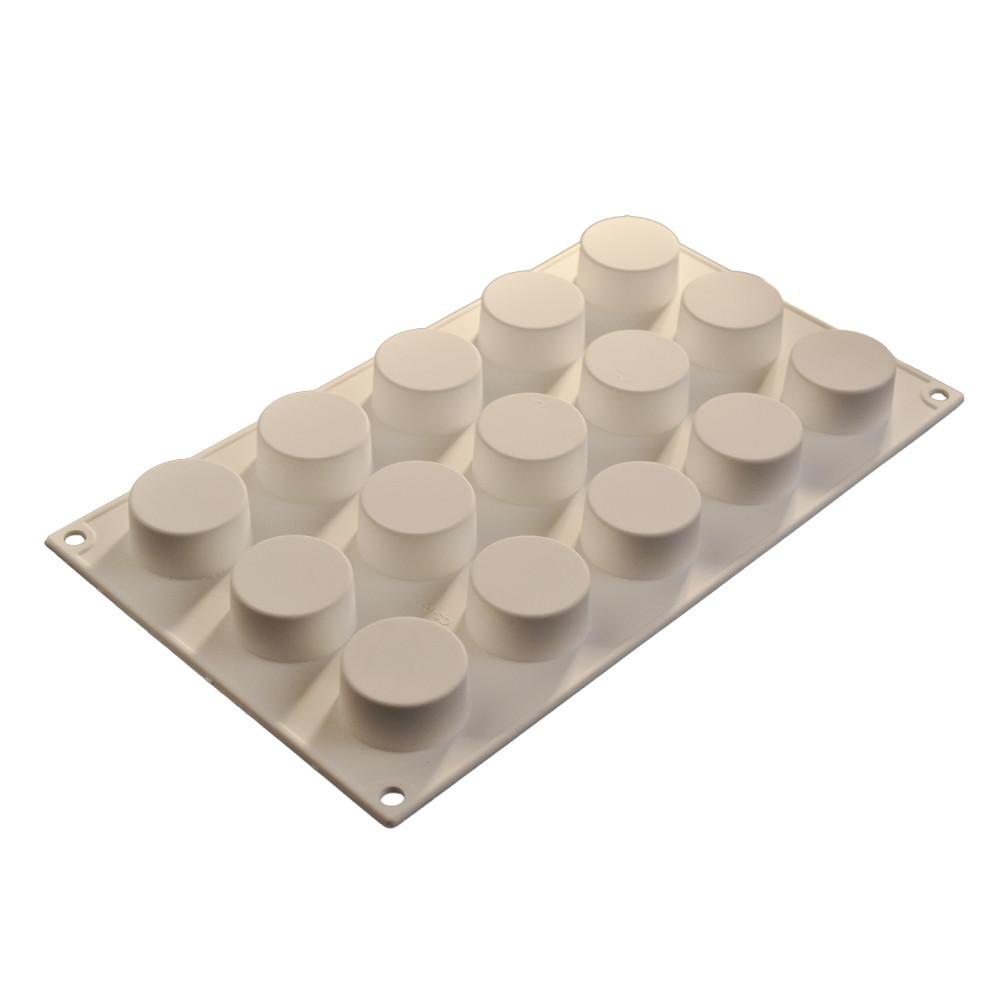 Forma din silicon rotund 30x20cm, 15 cavitati 52013 CSL